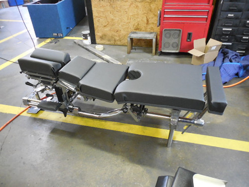 This Used Zenith 55 Stationary table comes standard with Forward Motion Cervical Drop and Pelvic Drop.