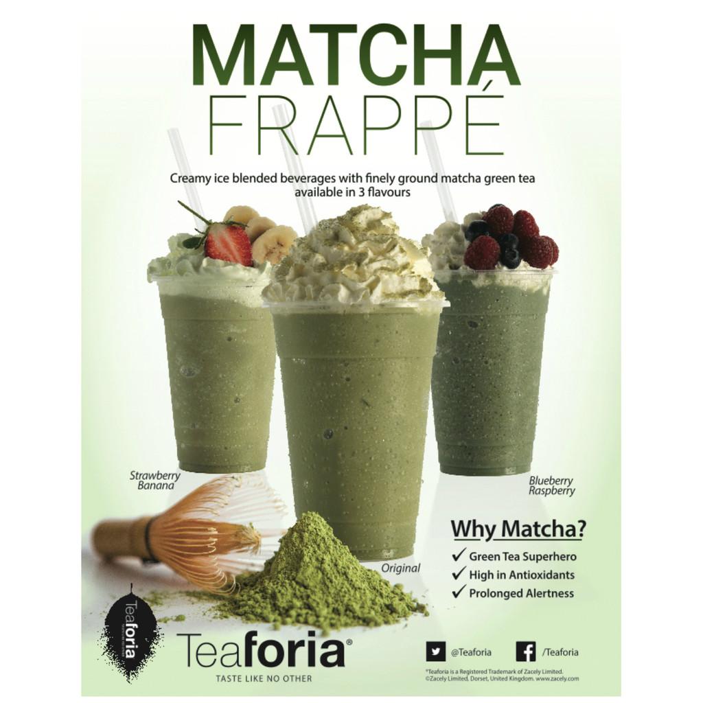 Teaforia Matcha Frappé POS Poster (A3)
