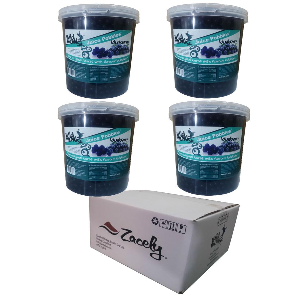 3.2kg Wild Monk BLUEBERRY Juice Pobbles for Bubble Tea (Case of 4 Tubs)