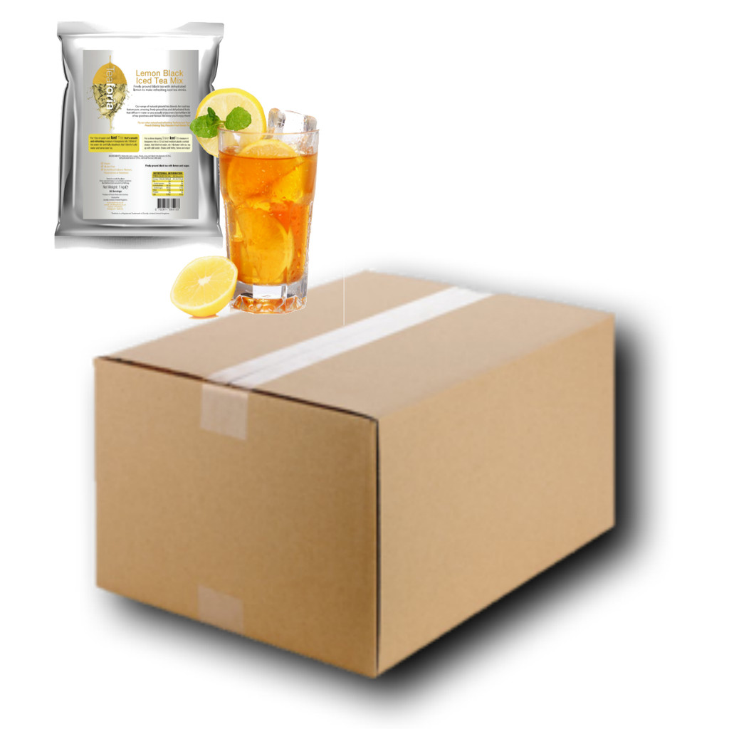 FULL CASE WHOLESALE 10 x 1kg LEMON (Black) Iced Tea Mix - CLEARANCE