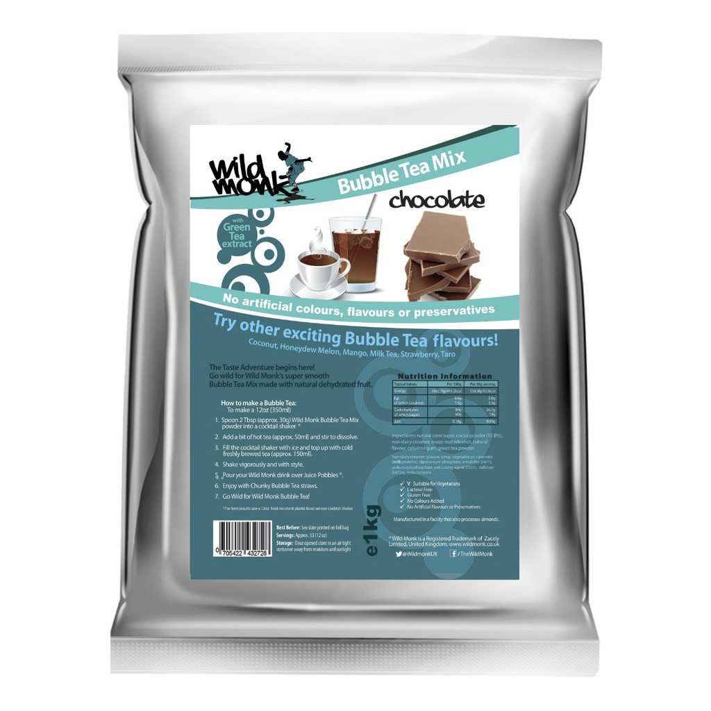 1kg CHOCOLATE Bubble Tea Mix WILD MONK