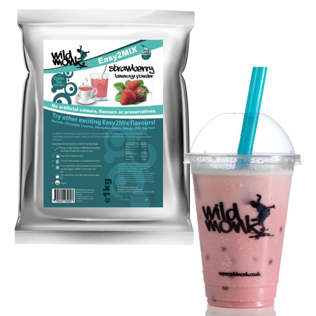 1kg STRAWBERRY Bubble Tea Mix WILD MONK