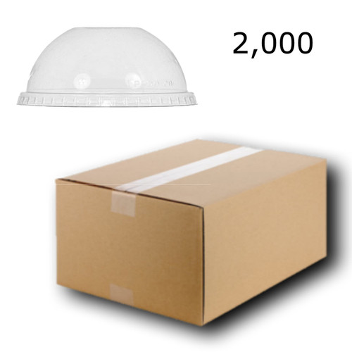 2000 x Plastic Cup Lids Dome Shaped