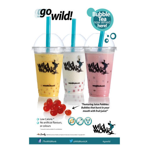 Wild Monk Bubble Tea POS Poster (A3)