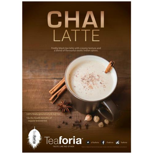 Teaforia Latika Chai Tea Latte POS Poster (A3)