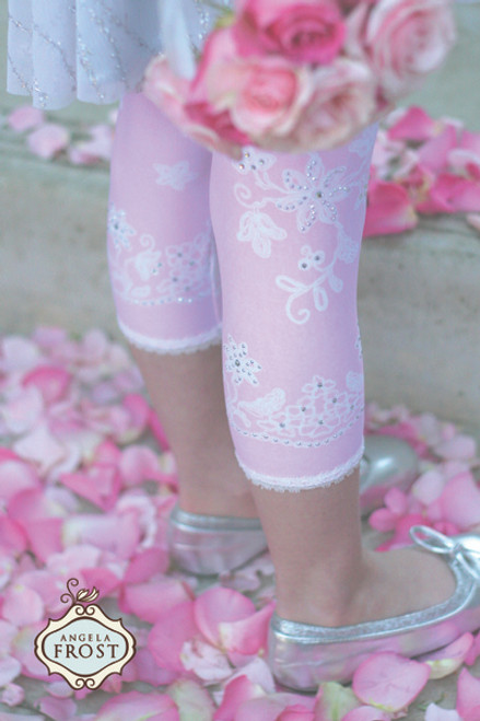 Girls Lace Icing with Sprinkles Leggings - Strawberry