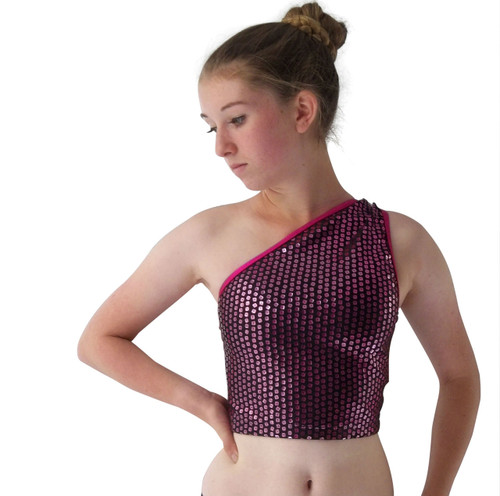 Girls Asymmetric dance top