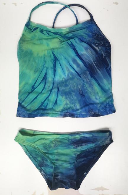 Girls tankini two piece swim- sea