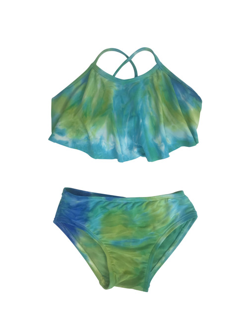 Girls Flutter top two piece swimsuit-Maui Me Too