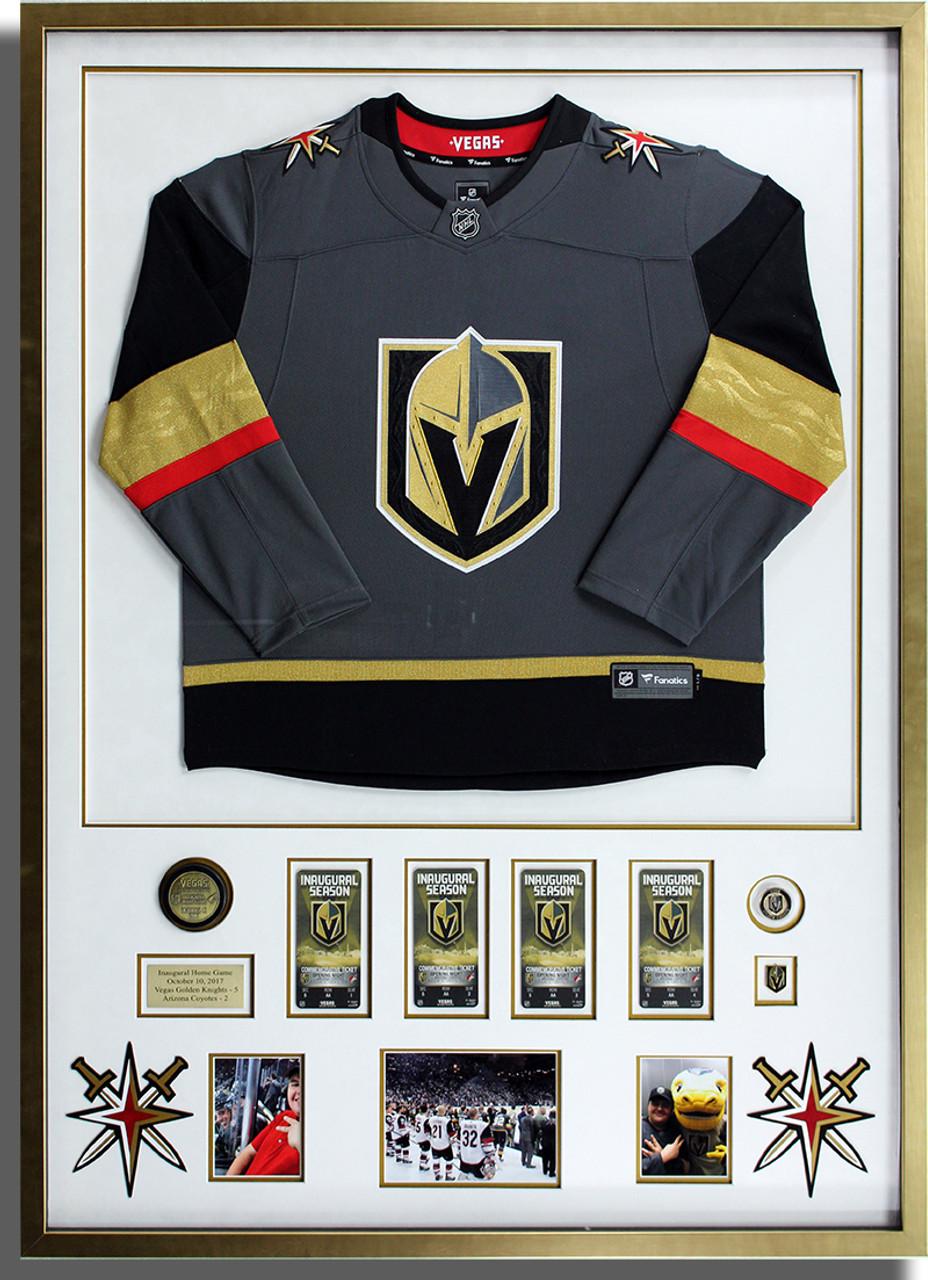 VGK Golden Knights Framed Jersey - Monster Wholesale Picture Framing