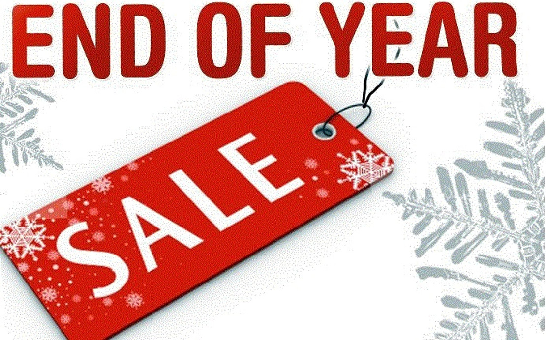 End of the Year clearance event 10% off all coffee and Tea.