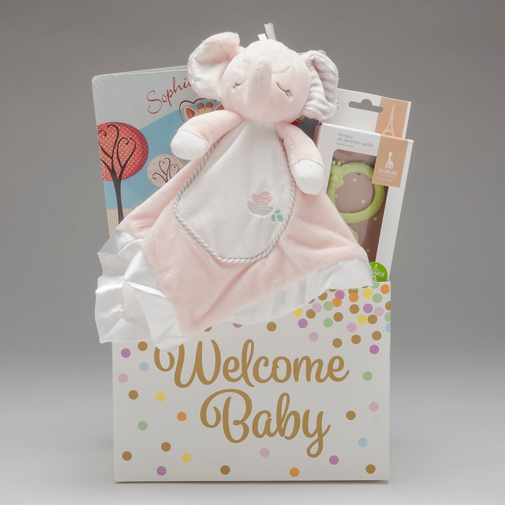 A sweet gift to welcome the sweet new baby- with three high quality items to take baby from infant to toddler, this gift is sure to be adored.