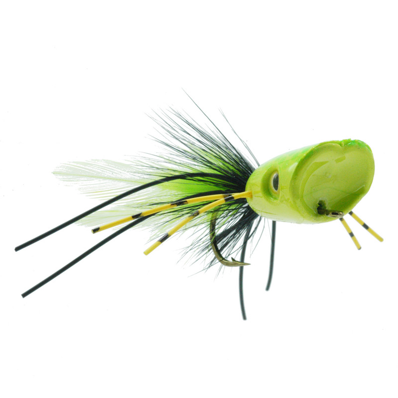 Double Barrel Popper Yellow Chartreuse Front and Side View