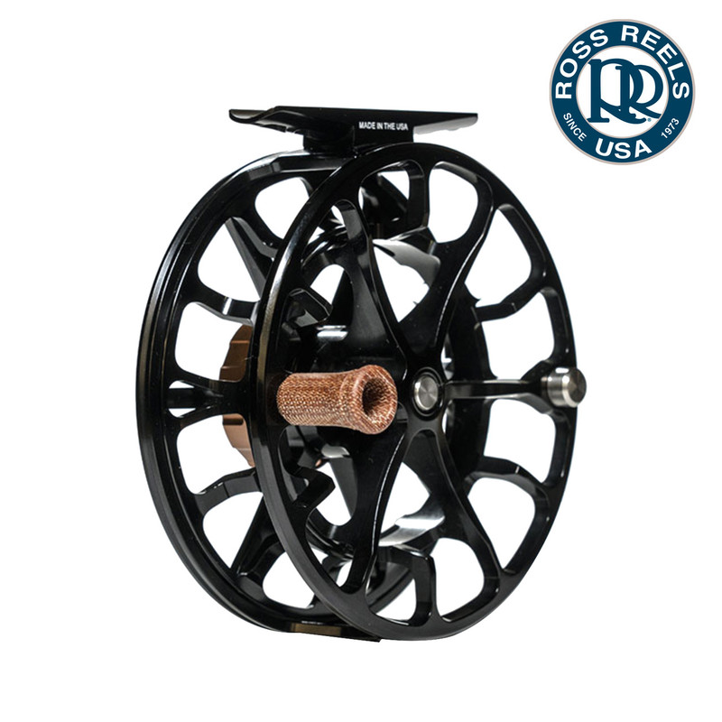 Ross Evolution LTX Fly Fishing Reel Black Handle Side View