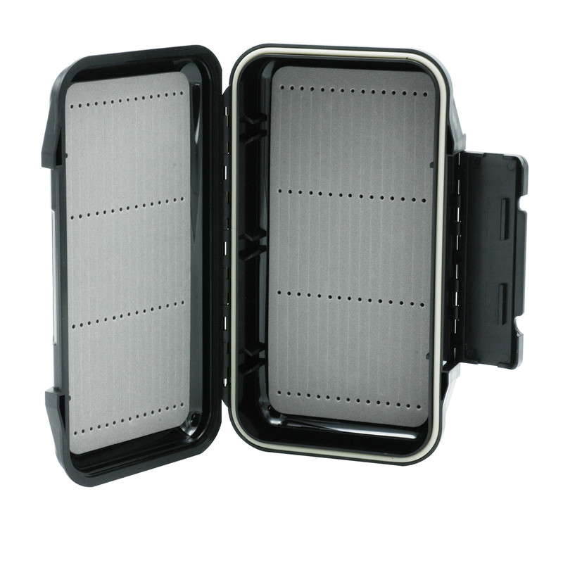 LRO Go To Waterproof Fly Box 1211 Shown Open Standing Upright