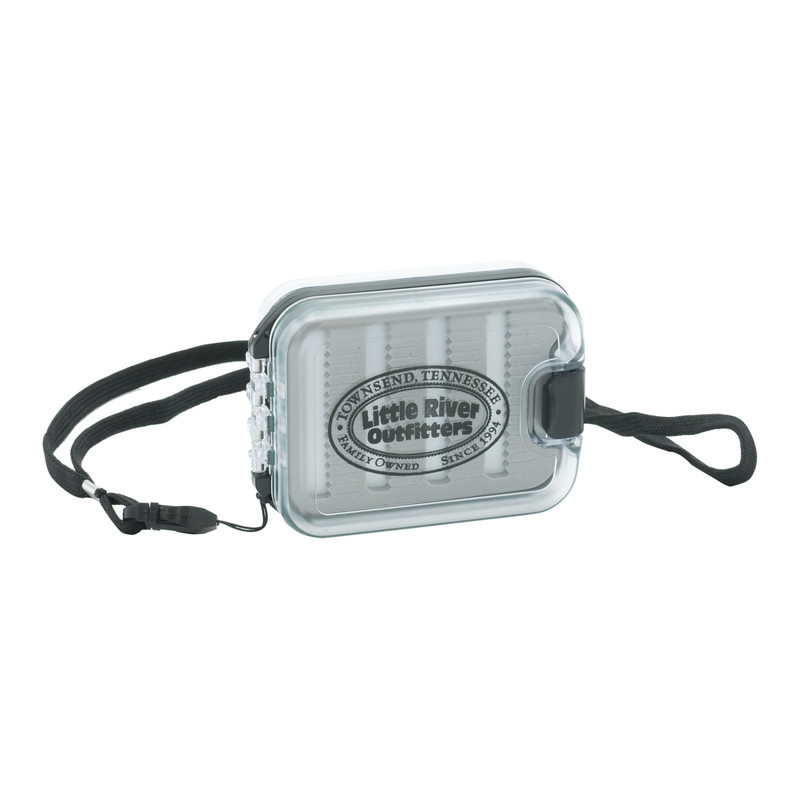 LRO Double Sided Waterproof Fly Box 1447 Front View With Lanyard Attached