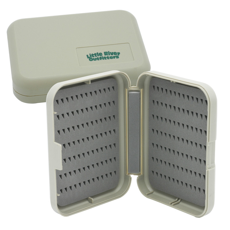 Two LRO EasyGrip Foam Small AS50S Fly Boxes Shown with One Open and One Closed