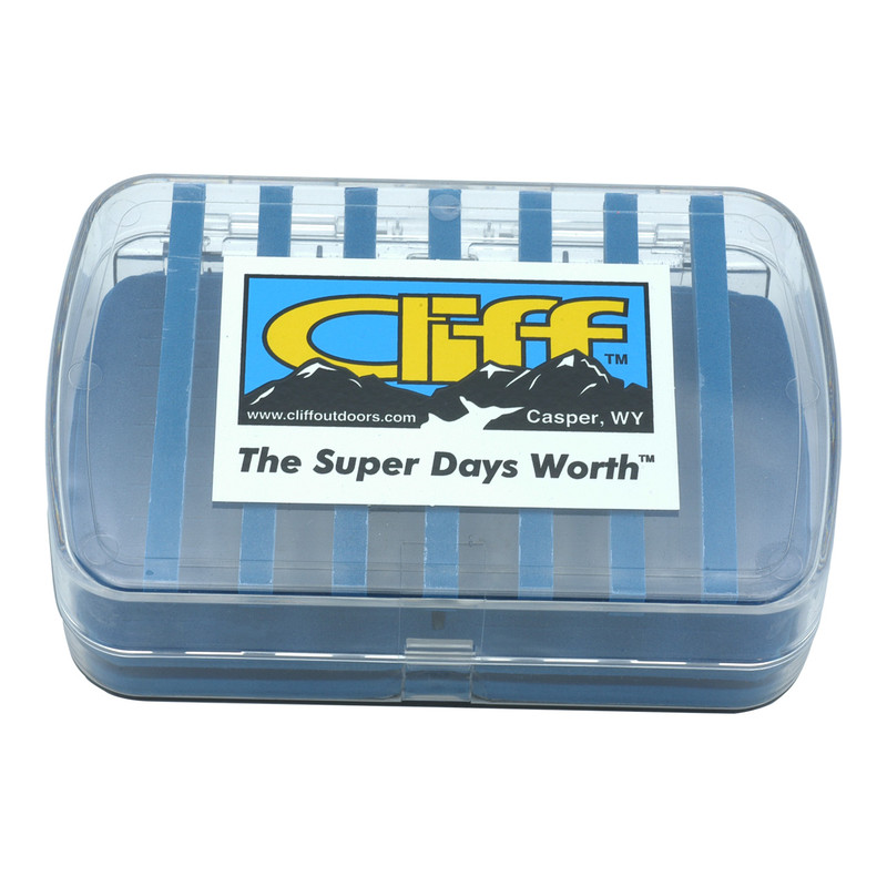 Cliff Super Days Worth Fly Box Shown Closed Top and Front View