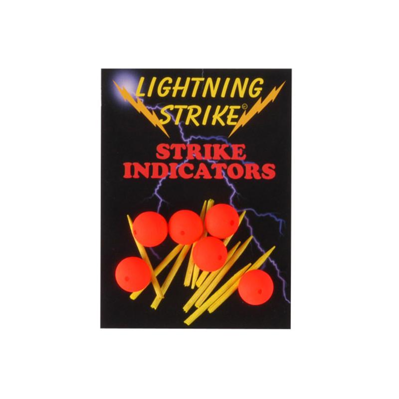 Pack of Lightning Strike Ball Indicators Shown in FL Orange