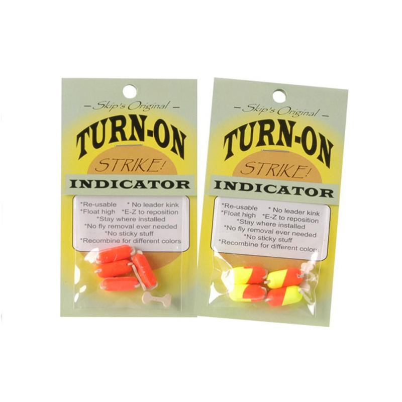 Skip's Turn-On Strike Indicators Shown Packaged in Fl Orange and Bi-Visible