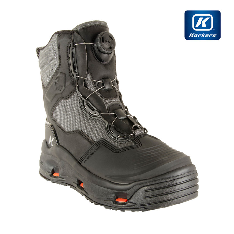 Korkers Dark Horse Wading Boot Front and Side View