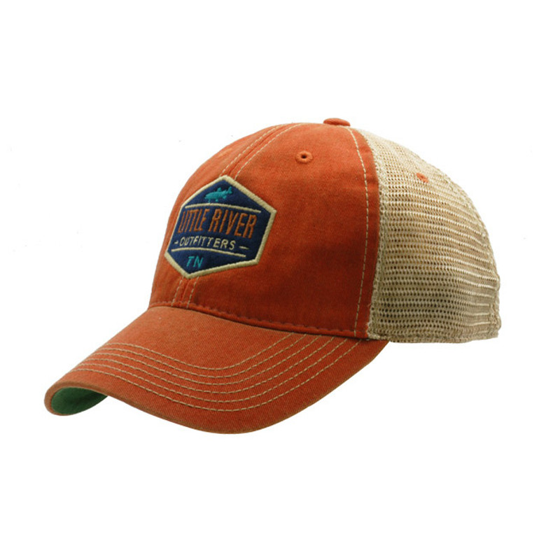 LRO Old Favorite Trucker Cap Orange Front and Side View