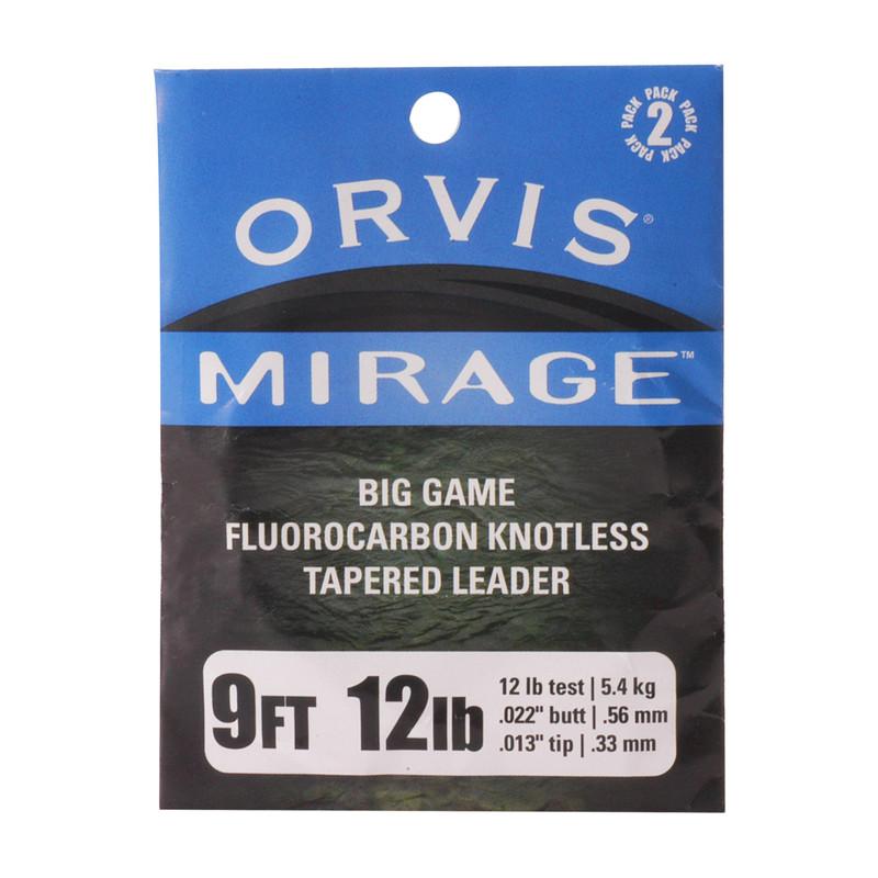 Orvis Mirage IGFA 9' 12 Pound Fluorocarbon Leaders 2-Pack