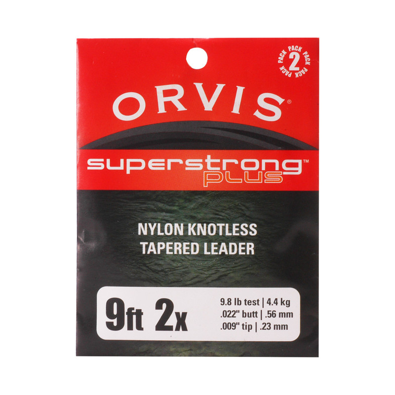 Orvis Super Strong Plus 9' 2X 9.8 Pound Test Leader 2-Pack