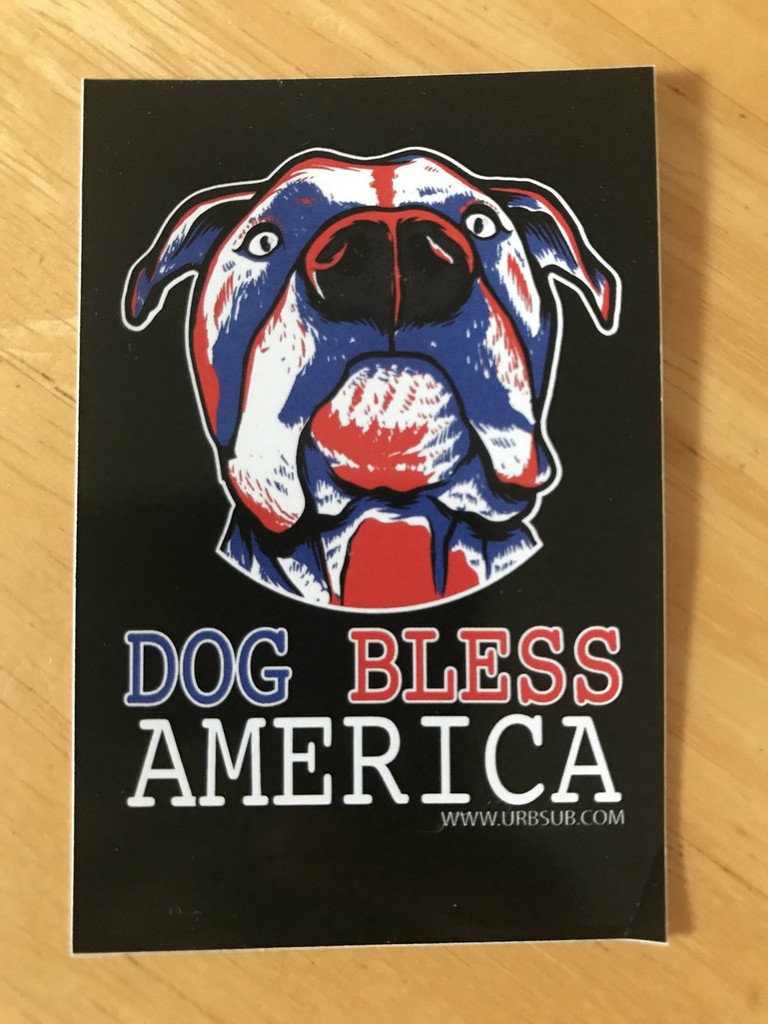 DOG BLESS AMERICA Stickers