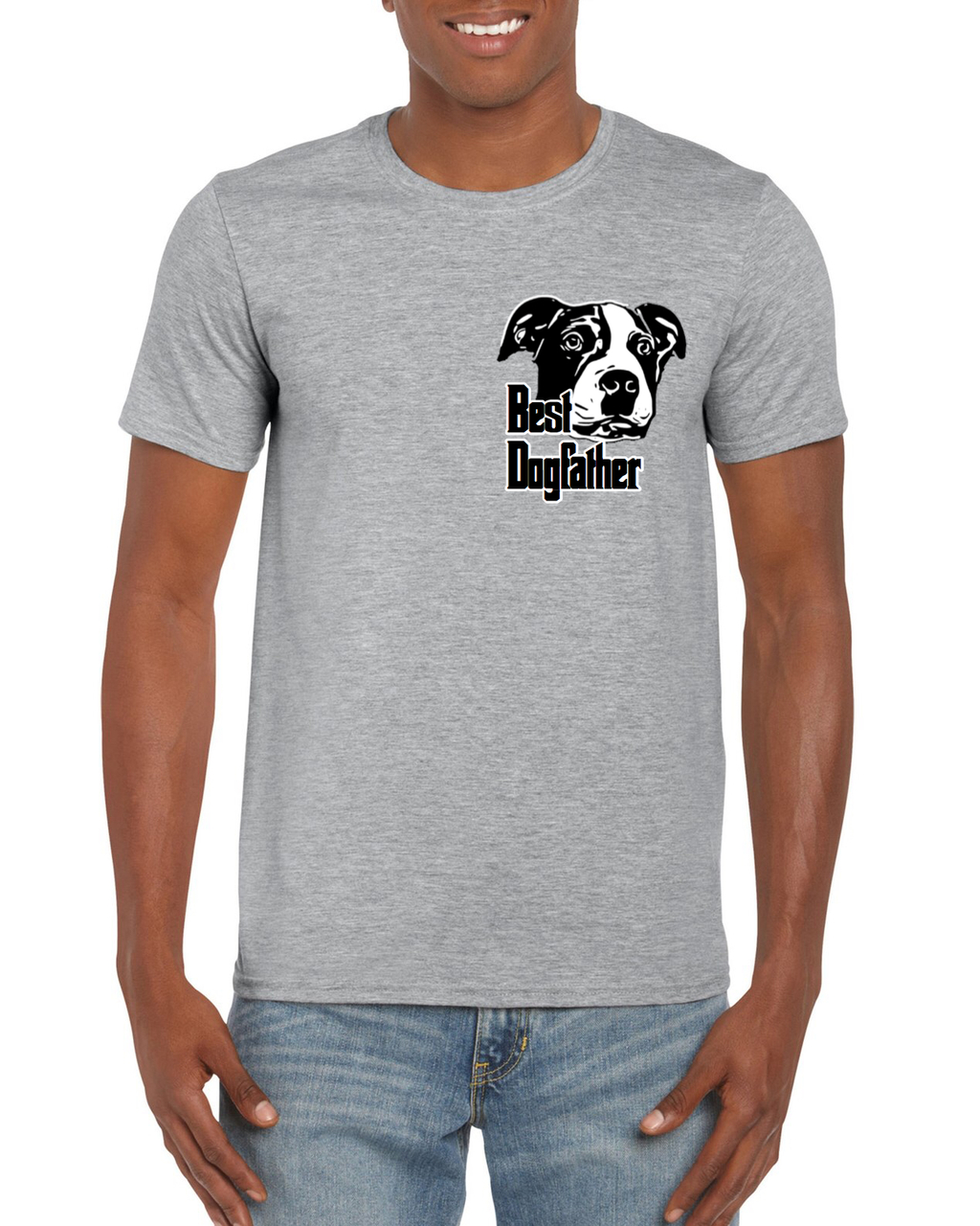 BEST DOGFATHER Unisex Gray Tee