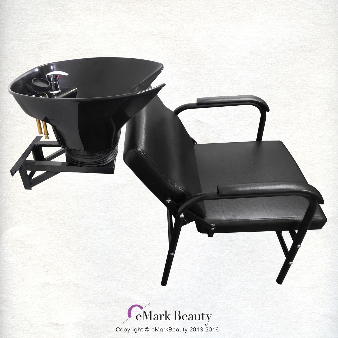 Salon Shampoo Tilt Bowl Sink Wall Mounted Reclining Shampoo Chair ...