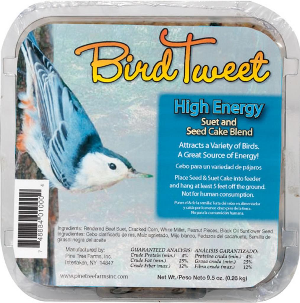 Bird Tweet High Energy Suet and Seed Cake Blend