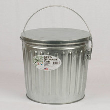 Galvanized Seed Storage Can w/ Lid - 5 Gal