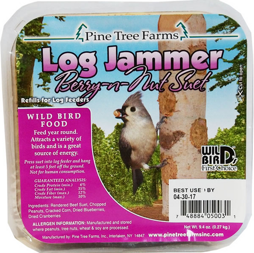 Log Jammer Berry-N-Nut Suet