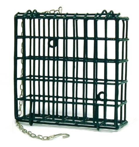 Wire Cage Suet Cake Hanging Feeder - Large