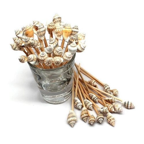 100 Shell Toothpicks For Beach Wedding Shell Tiki Bar Parties