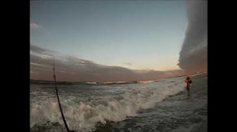 Surfcasting Jones Beach, Long Island Bluefish LI Outdoorsman