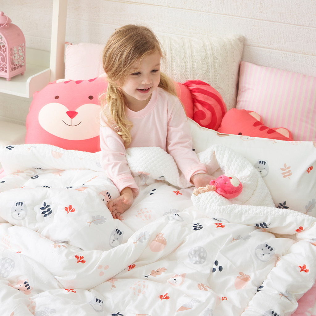 Cotton Jacquard Quilted Toddler Comforter - Lucy's Secret Tree Nuts