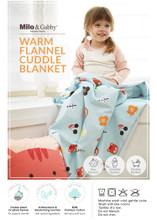 Flannel Cuddle Blanket- Lola's Garden
