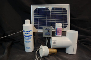 Standard Solar Powered Pool Sunshine Ionizer Model SPSSWS with electrodes containing silver Treats 25,000 Gallons