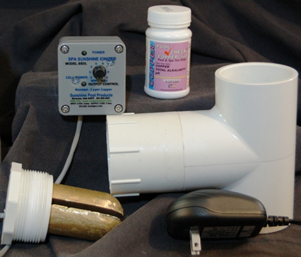 Spa or Hot Tub Deluxe Sunshine Ionizer Model SSDLWS Has Electrodes Containing Silver