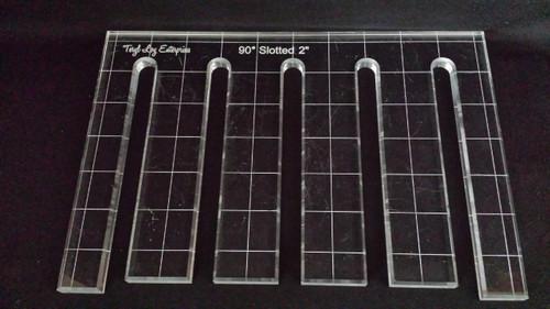 "1/4"" Template, 90' Slotted Ruler, 2"" slot spacing, Medium slot width"