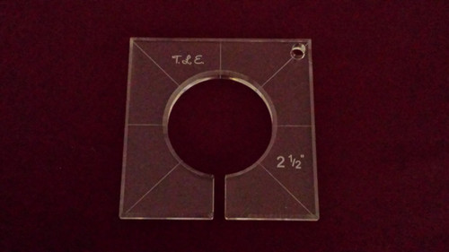 Inside Circle Template, 2-1/2 inch diameter
