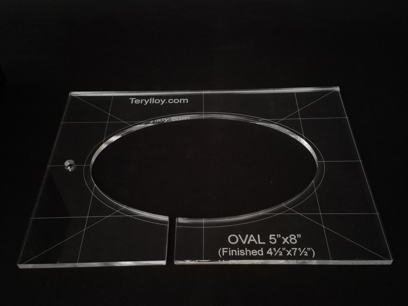 """1/4"""" Template, Oval  4.5"""" x 7.5"""""""