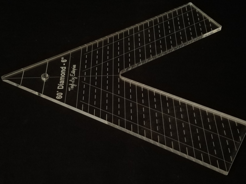 "1/4"" Template, 60' Diamond 6"""