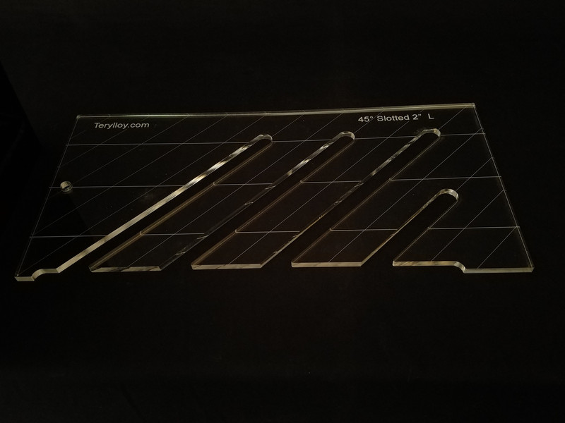 """1/4"""" Template, 45' Slotted, 2"""", Large"""