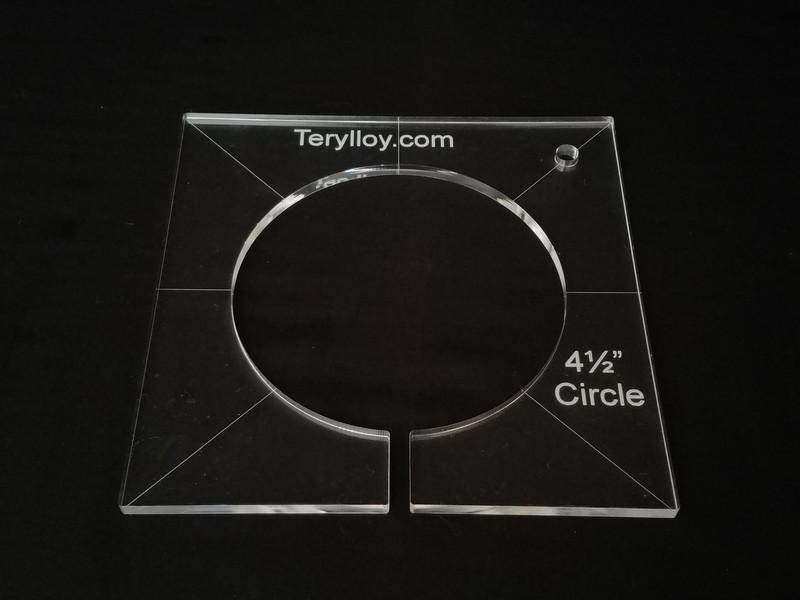 "1/4"" Template, Circle 4-1/2"""