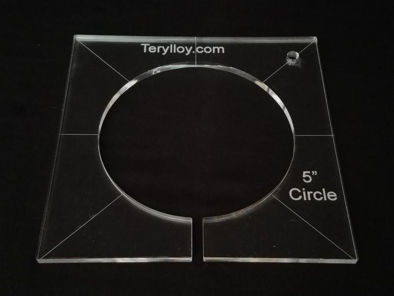 "1/4"" Template, Circle 5"""