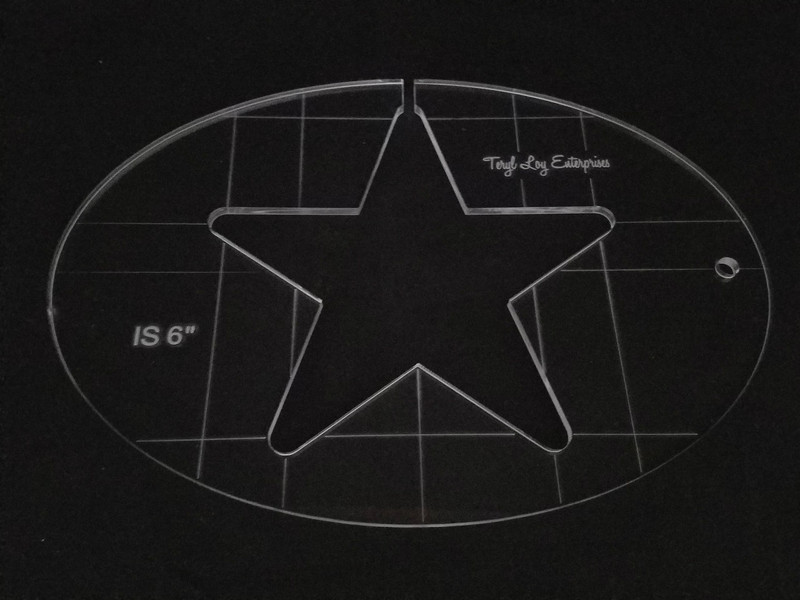 "3/8"" Template, Star 6"""