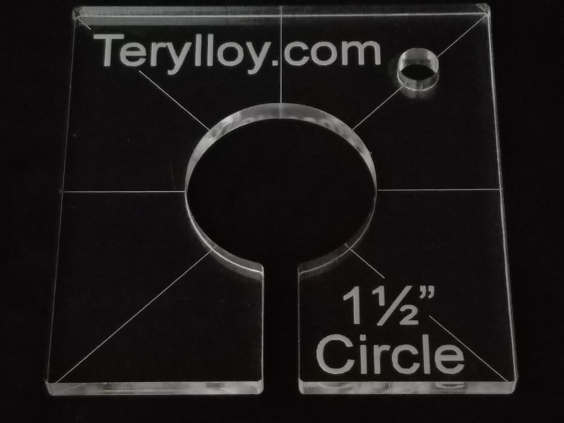 "1/4"" Template, Circle 1-1/2"""